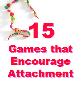 """Graphic of the text """"15 games that encourage attachment"""""""